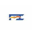 Fi initial company logo vector image vector image