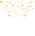 flying gold star sparkle with white vector image vector image
