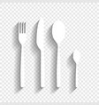 fork spoon and knife sign white icon with vector image vector image