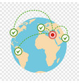 global migration icon flat style vector image vector image