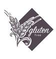 gluten free logo monochrome sketch outline with vector image