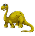 Green sauropod with happy face vector image vector image