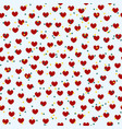 heart pattern with stars seamless valentine vector image vector image