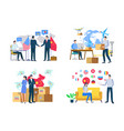 import or export delivery goods world vector image vector image