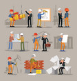 industrial professional engineers set vector image vector image