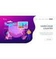 inside country traveling concept landing page vector image vector image