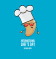 international chef day greeting card vector image