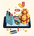 Isometric of online shopping vector image vector image