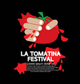 La Tomatina Festival vector image vector image