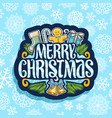 logo for merry christmas vector image