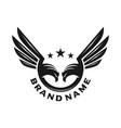 logo two eagles vector image vector image