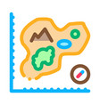 map of island cartography icon thin line vector image vector image