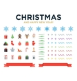Marry Christmas and Happy New Year modern design vector image