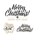 Merry Christmas AND Happy New Year Calligraphy Set vector image vector image