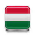 Metal icon of Hungary vector image vector image