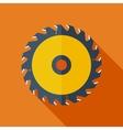 Modern flat design concept icon Saw circula vector image