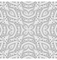 monochrome seamless pattern with floral ethnic vector image vector image