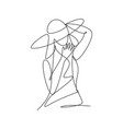 one continuous line drawing beauty woman feminine vector image vector image