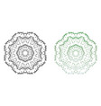 ornamental floral mandala isolated on white vector image vector image