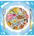 planet of food vector image