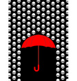 Rain of skulls Umbrella protects from head of vector image vector image