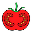 red tomato icon cartoon vector image vector image