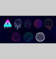retro futuristic universal shapes - spheres vector image vector image