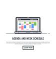 schedule online app vector image vector image