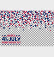 seamless pattern with stars for 4th of july vector image