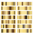 set golden texture metal background vector image