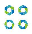 set lens shutter photography logo template vector image vector image