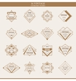 Set of line abstract geometric logotypes or vector image vector image