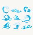 set sea waves vector image