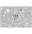set tea theme items objects and symbols vector image