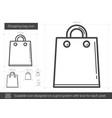 shopping bag line icon vector image vector image