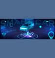 smart auto banner vector image vector image