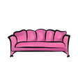 sofa furniture sign interior detailed couch vector image