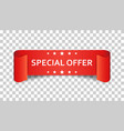 special offer ribbon icon discount sale sticker vector image vector image