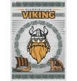 Viking Vintage Poster vector image vector image