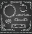 vintage decorative frames design element set vector image vector image