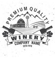 winery company badge sign or label vector image vector image