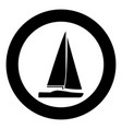yacht icon black color simple image vector image vector image