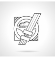 Drivers rule line icon vector image