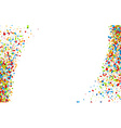 White background with confetti vector image