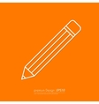 a linear pencil icon vector image vector image