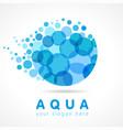 aqua water drop logo concept vector image