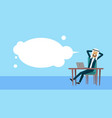 arab businessman sitting at office desk hold the vector image vector image