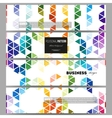 Banners set Abstract colorful business background vector image vector image