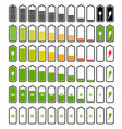 battery charge indicator set vector image