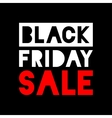 Black Friday Sale white - red icon on black vector image